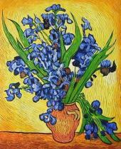 Vincent Van Gogh -  Kosatce, obrazy ručně malované
