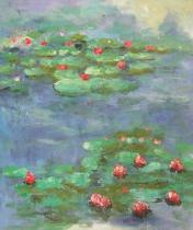 Claude Monet - Vodní lekníny, obrazy ručně malované