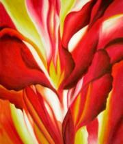 Květiny - Jiskření, obrazy ručně malované