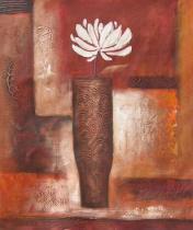 Květiny - Bílý květ, obrazy ručně malované