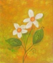 Květiny - Silný život, obrazy ručně malované