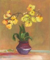 obrazy, reprodukce, Žlté kvety vo váze