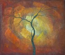 obrazy, reprodukce, Kmeň stromu