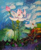 obrazy, reprodukce, Lotosový kvet