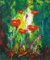 obrazy, reprodukce, Kvety v pralese