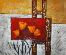 obrazy, reprodukce, Stratené kvety