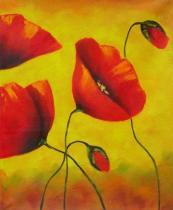 Květiny - Vlčí máky III., obrazy ručně malované