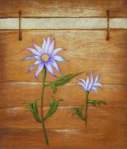 Květiny - Dva květy, obrazy ručně malované