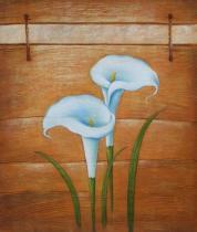 Květiny - Bílé lilie, obrazy ručně malované