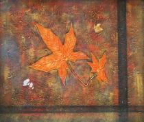 obrazy, reprodukce, Jesenné list