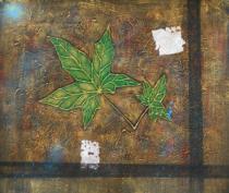 obrazy, reprodukce, Zelené listy