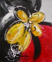 obrazy, reprodukce, Moderné žltý kvet