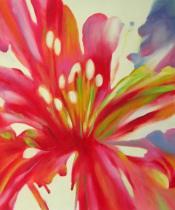 Květiny - Červený květ, obrazy ručně malované