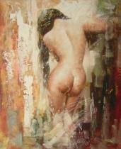 Akty - Nahá dívka, obrazy ručně malované