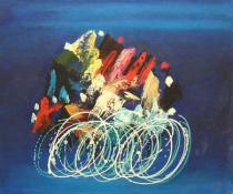 obrazy, reprodukce, Cyklisti