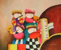 Pro děti - Dětská kapela, obrazy ručně malované