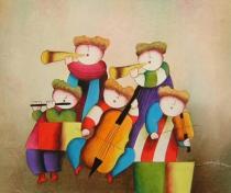 Pro děti - Rytmus, obrazy ručně malované