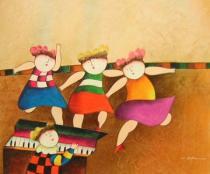 Pro děti - Taneční doprovod, obrazy ručně malované