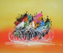 Lidé a postavy - Cyklisti, obrazy ručně malované