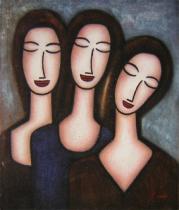 Lidé a postavy - Zájem, obrazy ručně malované