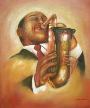 obrazy, reprodukce, Jazzman II