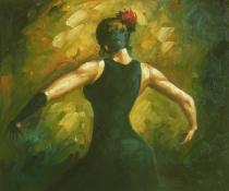 Lidé a postavy - Tanečnice, obrazy ručně malované