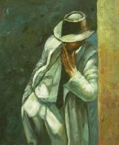 Lidé a postavy - Donašeč, obrazy ručně malované