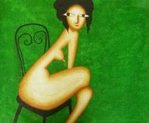 Lidé a postavy - Nádherné pokušení, obrazy ručně malované