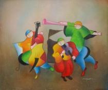 Pro děti - Kapela šťastné děti, obrazy ručně malované