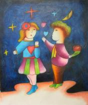 Pro děti - První láska, obrazy ručně malované