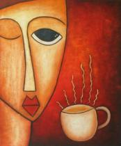 obrazy, reprodukce, Káva