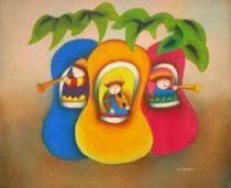 Pro děti - Děti, obrazy ručně malované