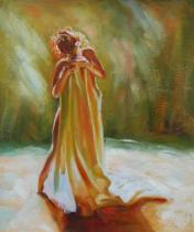 Akty - Tančící žena, obrazy ručně malované
