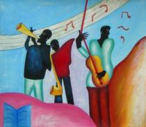 obrazy, reprodukce, Pocestní muzikanti