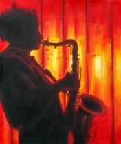 obrazy, reprodukce, Saxofonista