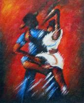 obrazy, reprodukce, Závodní tanečníci