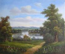 obrazy, reprodukce, U jezera