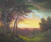 obrazy, reprodukce, Západ slunce
