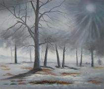 obrazy, reprodukce, Zimní les