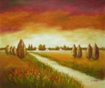 obrazy, reprodukce, Polní cesta