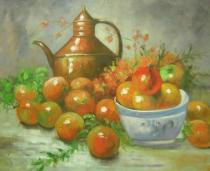 Zátiší - Zátiší s konvičkou, obrazy ručně malované