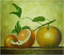 Zátiší - Zátiší pomeranče, obrazy ručně malované
