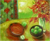 Zátiší - Snídaně, obrazy ručně malované