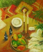 Zátiší - Romantická večeře, obrazy ručně malované
