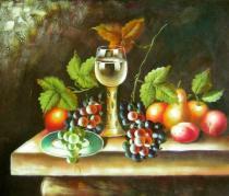 obrazy, reprodukce, Zátiší s vínem