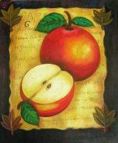 obrazy, reprodukce, Zátiší s jablkem