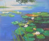 Claude Monet - Jezero s lekníny, obrazy ručně malované