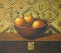 Zátiší - Mísa s cibulí, obrazy ručně malované
