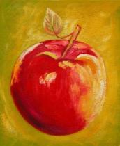 obrazy do bytu - obraz Jablko červené - obrazy ručně malované