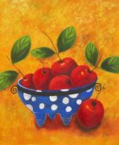 obrazy, reprodukce, Mísa s jablíčky